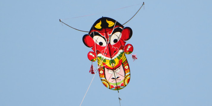 壱岐「壱州鬼凧揚げ」鬼凧は実際に飛ぶ!?(おんだこ)