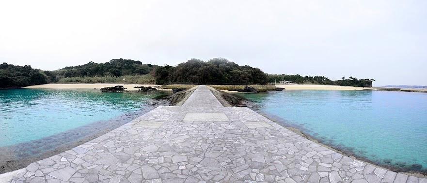 大島海水浴場はダブルビーチ