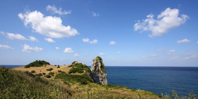 壱岐の猿岩(さるいわ)が、いつも左向き!よーし顔を正面から見るぞ!