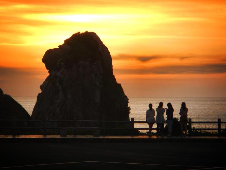 猿岩の夕日