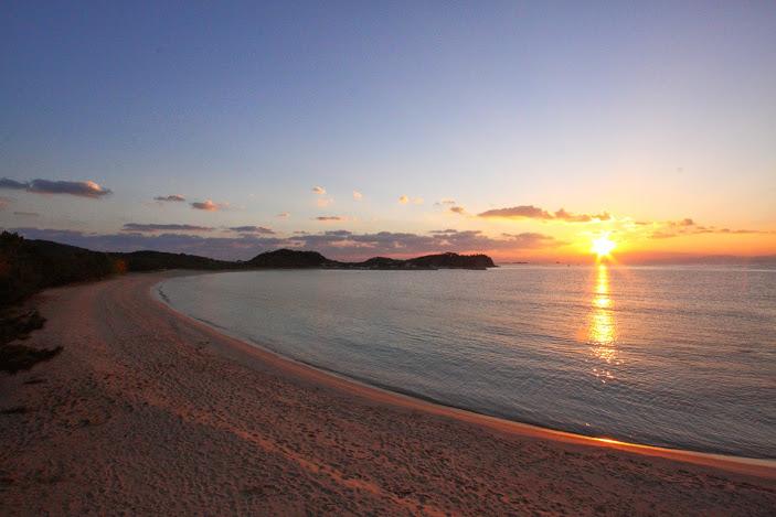 筒城浜海水浴場の日の出