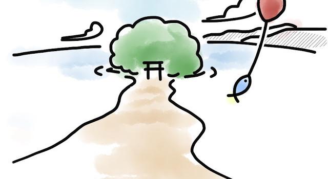 No.008『小島神社』連載4コマまんが