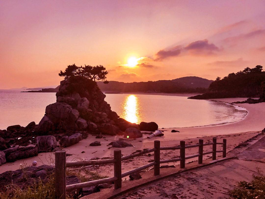 小松浜の夕焼け(壱岐島)