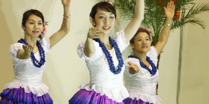 真夏の夜の「Kokoke hula in 壱岐」フラダンス(ココケ・フライン壱岐)
