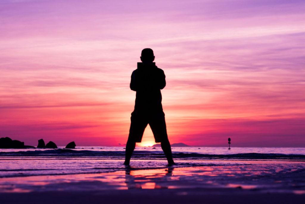 清石浜(くよしはま)の日の出